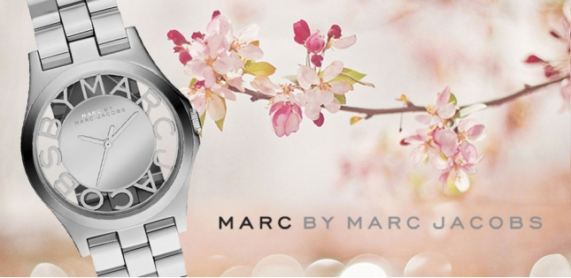 Marc by Marc Jacobs Ladies Prata Henry esqueleto Assista