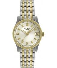 Rotary LB00793-09 Senhoras relógios de dois tons de relógios