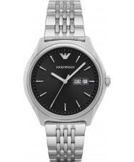 Emporio Armani AR1977 Mens vestido de prata pulseira de aço relógio
