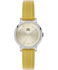Orla Kiely OK2027 Ladies patricia haste de impressão relógio de pulseira de couro amarelo