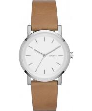 DKNY NY2339 Ladies soho marrom relógio de pulseira de couro