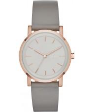 DKNY NY2341 Ladies soho cinza relógio de pulseira de couro