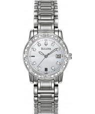 Bulova 96W105 Damas de diamante de aço de prata pulseira de relógio