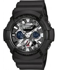 Casio GA-201-1AER Mens g-shock tempo do mundo relógio cronógrafo preto