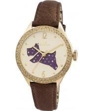 Radley RY2210 Ladies pulseira de couro marrom relógio com pedras