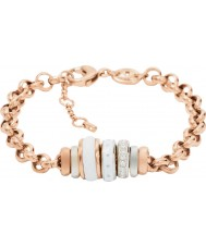 Fossil JF01121998 Senhoras clássicos pulseira rosa corrente de aço de ouro