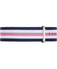 Daniel Wellington DW00200050 Ladies clássico Southampton 36 milímetros prata azul de nylon branco e rosa pulseira de reposição