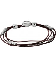 Fossil JA5798040 Moda Feminina pulseira de couro preto com pepitas de prata
