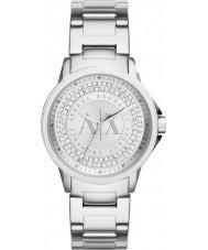 Armani Exchange AX4320 Senhoras prata urbana set pedra relógio