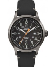 Timex TW4B01900 analógico expedição Mens couro preto elevado relógio pulseira