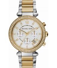 Michael Kors MK5626 Ladies parker dois tons relógio cronógrafo de aço