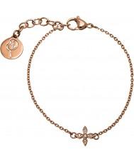 Edblad 31630068 Ladies Windsor subiu banhado a ouro pulseira
