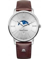 Maurice Lacroix EL1108-SS001-110-1 Mens Eliros marrom relógio de pulseira de couro