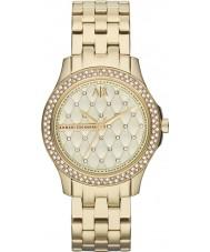 Armani Exchange AX5216 Ladies banhado a ouro relógio de vestido pulseira