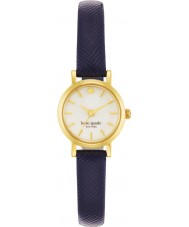 Kate Spade New York 1YRU0456 Ladies pequena couro marinho metro pulseira de relógio