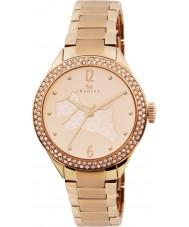 Radley RY4190 Senhoras rosa banhado a ouro relógio pulseira com pedras