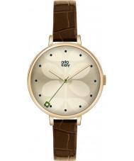 Orla Kiely OK2030 Ladies hera marrom relógio de pulseira de couro