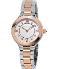 Frederique Constant FC-200WHD1ER32B Senhoras clássicos deliciar dois tons pulseira de aço relógio