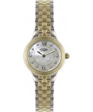 Rotary LB02761-41 Senhoras relógios de prata e relógio de ouro
