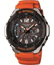 Casio GW-3000M-4AER rádio dos homens g-choque controlado relógio movido a energia solar laranja