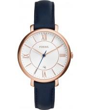 Fossil ES3843 Ladies Jacqueline couro azul pulseira de relógio