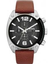 Diesel DZ4296 Mens estouro do cronômetro tan couro relógio pulseira