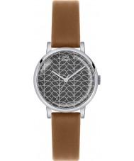 Orla Kiely OK2031 Ladies patricia haste de impressão relógio de pulseira de couro tan