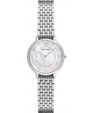 Emporio Armani AR2511 Vestido de damas de prata pulseira de aço relógio