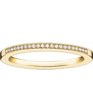 Thomas Sabo Ladies glam and soul anel de diamante de ouro amarelo
