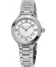 Frederique Constant FC-200WHD1ER36B Senhoras clássicos deliciar relógio pulseira de aço de prata