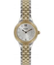 Rotary LB02762-59 Senhoras relógios de prata e rosa relógio de ouro