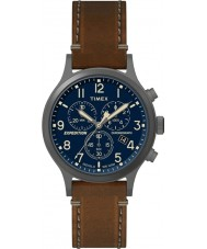 Timex TW4B09000 Mens expedição de couro marrom relógio de pulseira
