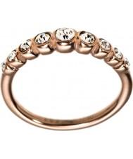 Edblad 2153441919-S Ladies valência rosa banhado a ouro anel de linha - tamanho n (s)