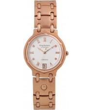 Krug-Baumen 5116RDM Charleston 4 diamante rosa pulseira de ouro mostrador em ouro