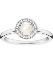 Thomas Sabo Anel de diamante de prata e glamour das mulheres