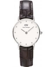 Daniel Wellington DW00100069 Ladies elegante york relógio 26 milímetros de prata
