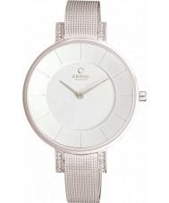 Obaku V158LECIMC Ladies pedra definir prata magro pulseira tom de malha de relógio