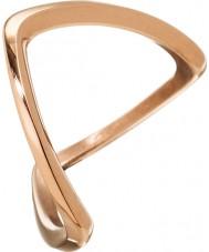 Edblad 3153441918-S Senhoras kavala rosa banhado a ouro anel - tamanho n (s)