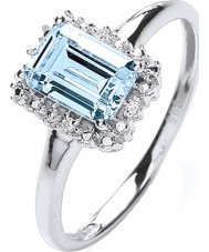 Purity 925 PNC2020-2 Ladies 925 anel de prata com topázio zircônia cúbica