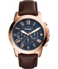 Fossil FS5068 Mens conceder relógio cronógrafo marrom