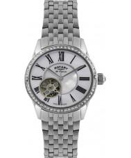 Rotary LB90510-41 Ladies les originales relógio de prata automática