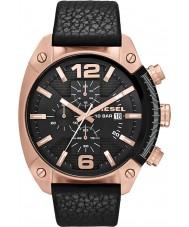 Diesel DZ4297 Mens estouro do cronômetro de couro preto relógio pulseira