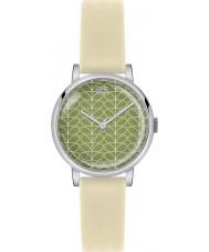 Orla Kiely OK2033 Ladies-tronco patricia relógio pulseira creme de impressão de couro