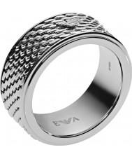 Emporio Armani EGS2142040-11 Mens deco tonneau malha anel de aço de prata - tamanho v