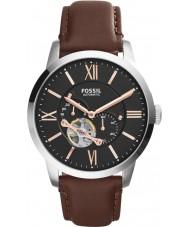 Fossil ME3061 Mens cidadão de couro marrom relógio automático