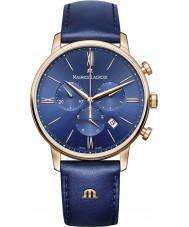 Maurice Lacroix EL1098-PVP01-411-1 Mens Eliros couro azul relógio cinta cronógrafo