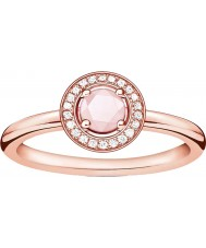 Thomas Sabo D-TR0009-925-9-52 As senhoras de glam e alma subiu banhado a ouro anel de diamante - m.5 tamanho (UE 52)