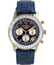 Krug-Baumen 400207DS Air diamante viajante mostrador azul pulseira azul