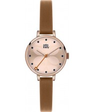 Orla Kiely OK2034 Ladies hera tan relógio com pulseira de couro