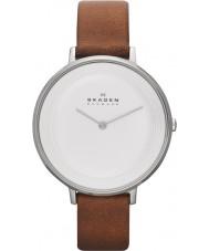 Skagen SKW2214 Ladies Ditte couro marrom relógio de pulseira